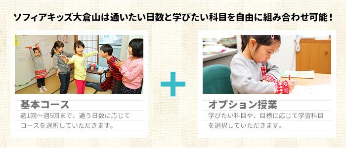 ソフィアキッズ大倉山は通いたい日数と学びたい科目を自由に組み合わせ可能!